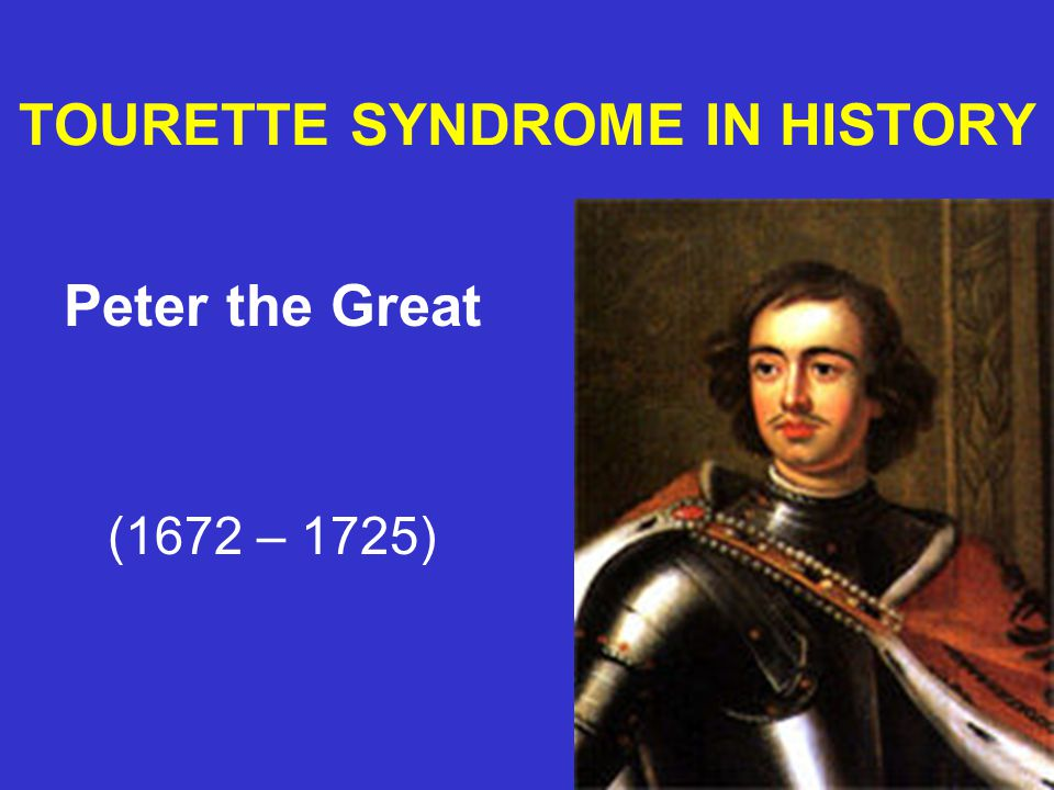 TOURETTE SYNDROME IN HISTORY Emperor Claudius (10 BC - AD 54)