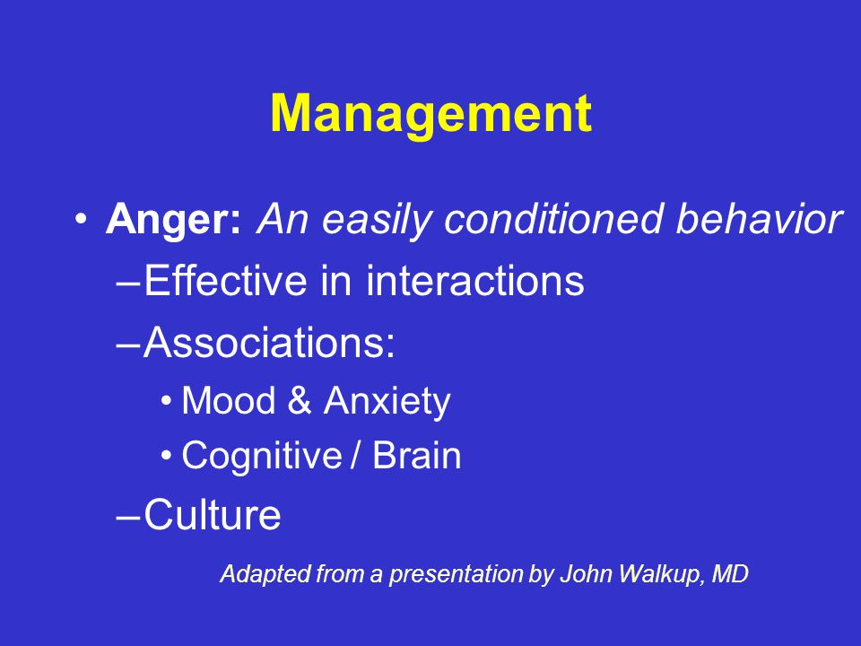 Management Containment - overcome assumptions – He can't control it – I can't set limits on him – He has a tough life.