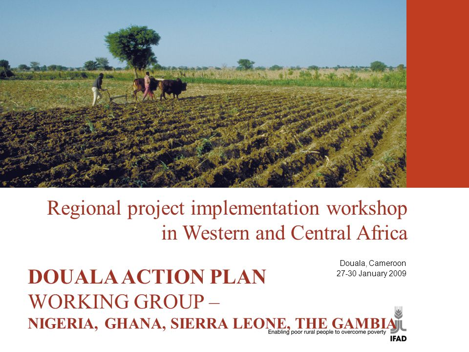 Regional project implementation workshop in Western and Central Africa THE DOUALA ACTION PLAN DOUALA ACTION PLAN WORKING GROUP – NIGERIA, GHANA, SIERR