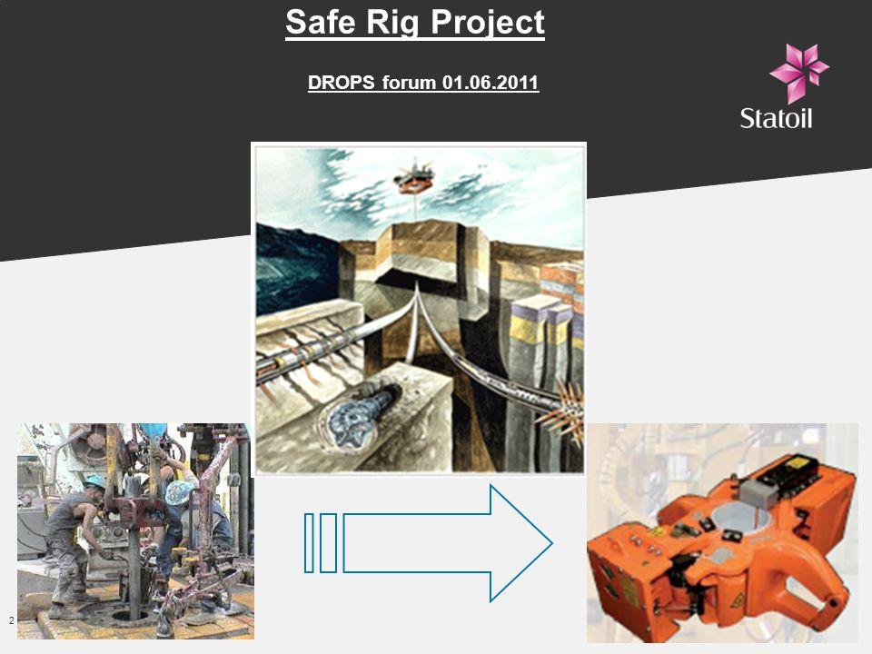 2 -Classification: Internal 2011-05-31 Safe Rig Project DROPS forum 01.06.2011