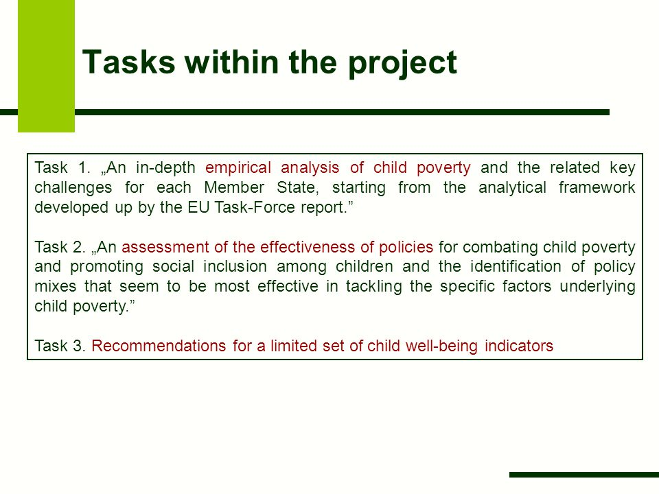 Tasks within the project Task 1.