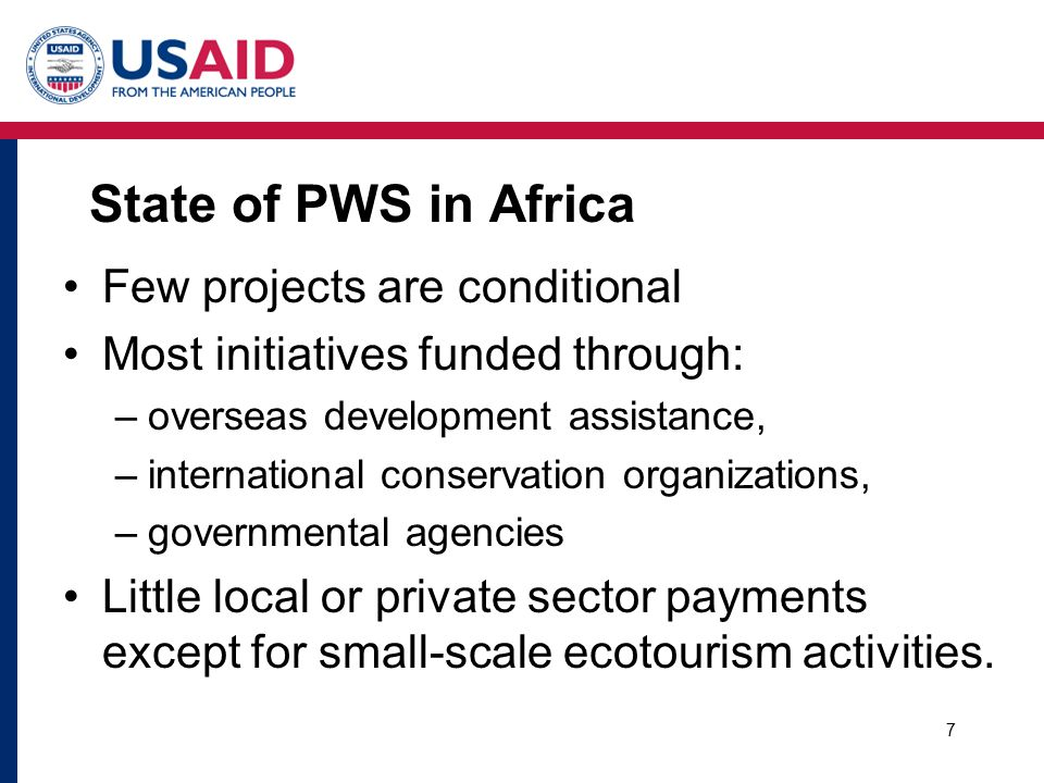Why so little PWS in Africa.