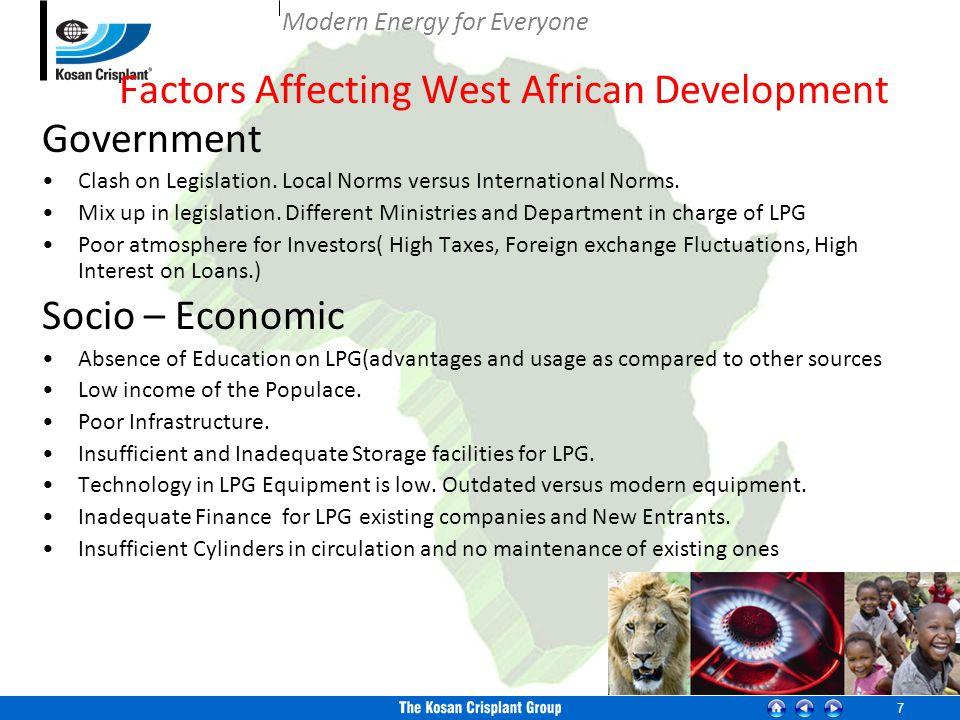 7 Factors Affecting West African Development Government Clash on Legislation.