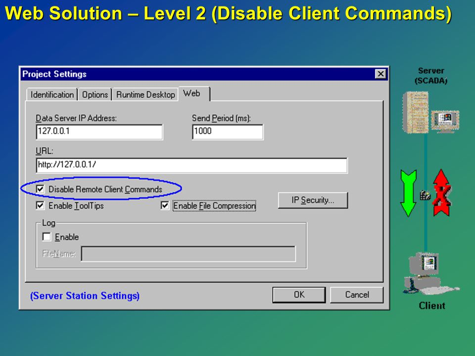 Web Solution – Level 2 (Disable Client Commands)