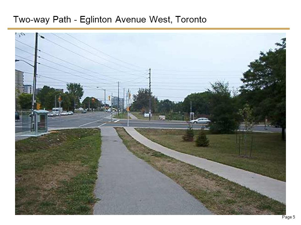 Page 5 Two-way Path - Eglinton Avenue West, Toronto