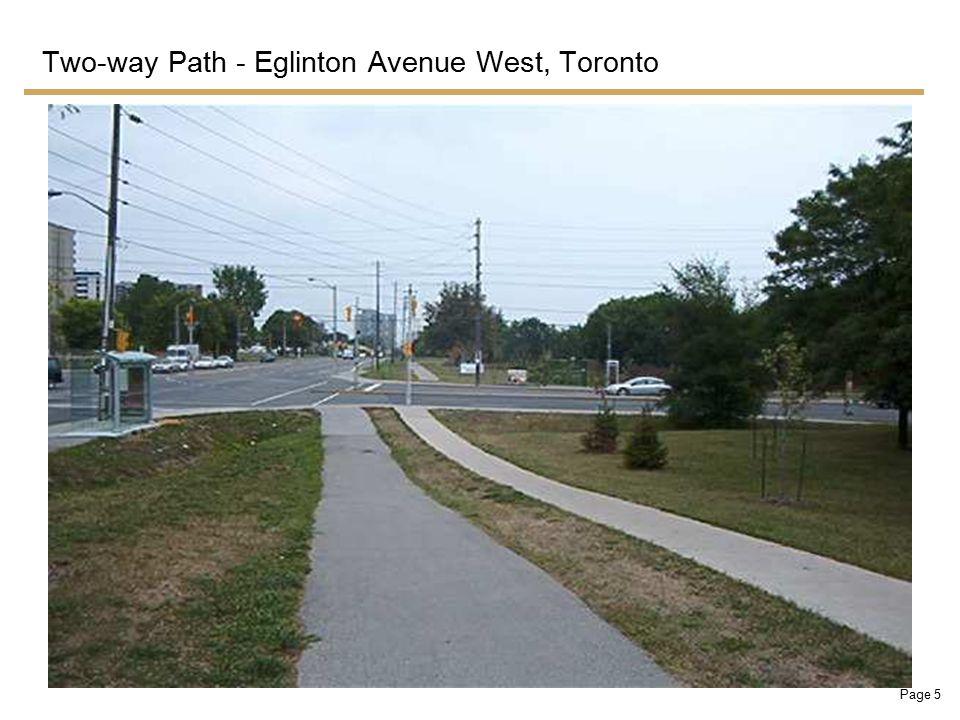 Page 6 Two-way Path - Eglinton Avenue West, Toronto