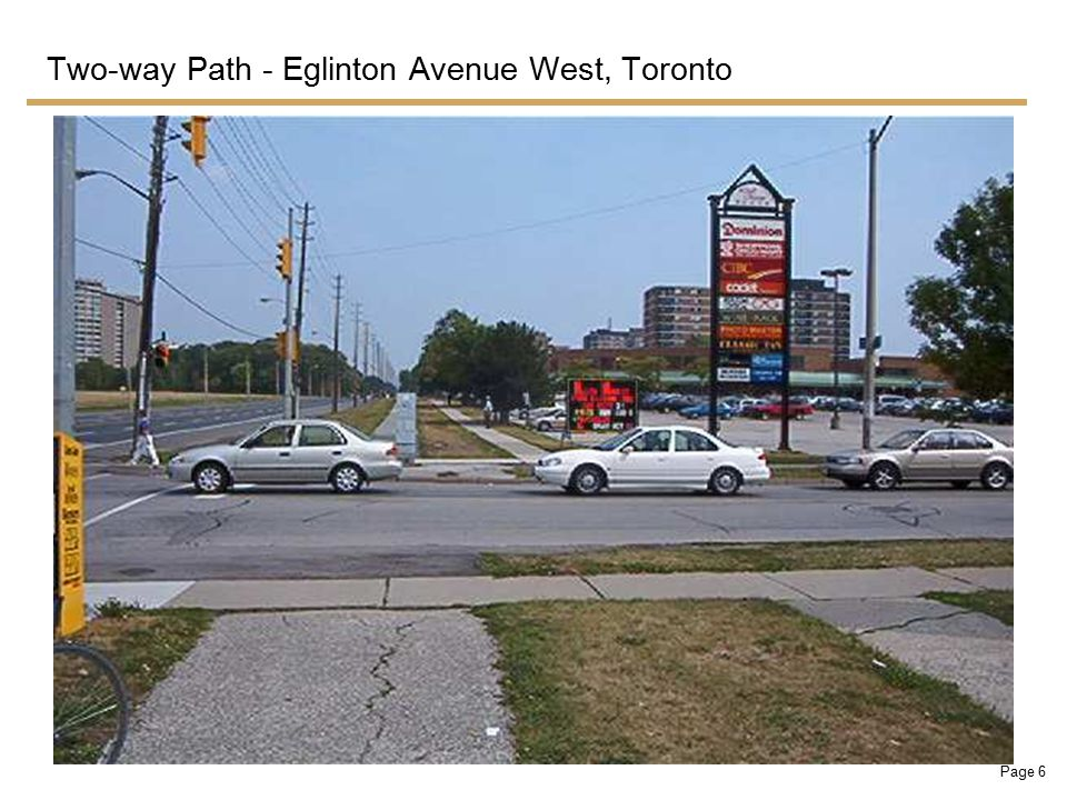 Page 6 Two-way Path - Eglinton Avenue West, Toronto