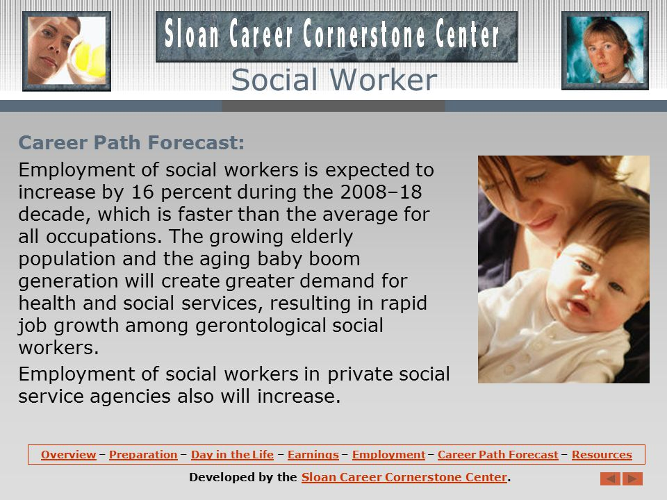 Employment: Social workers hold about 642,000 jobs in the United States.