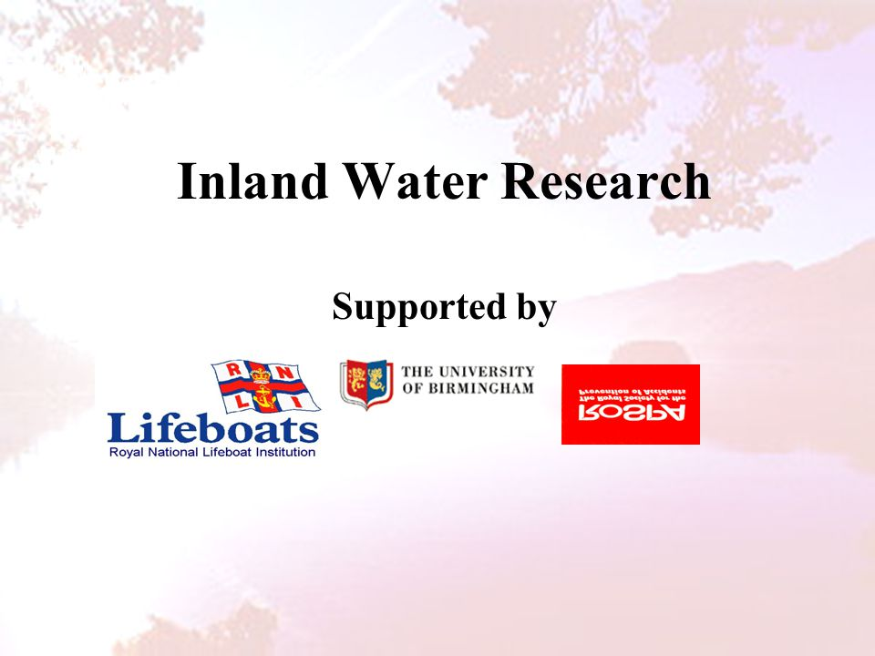 Inland Water Research Supported by
