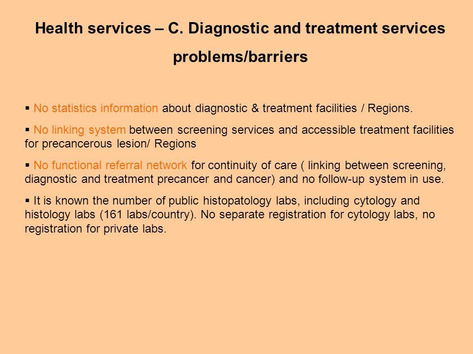 Health services – C.