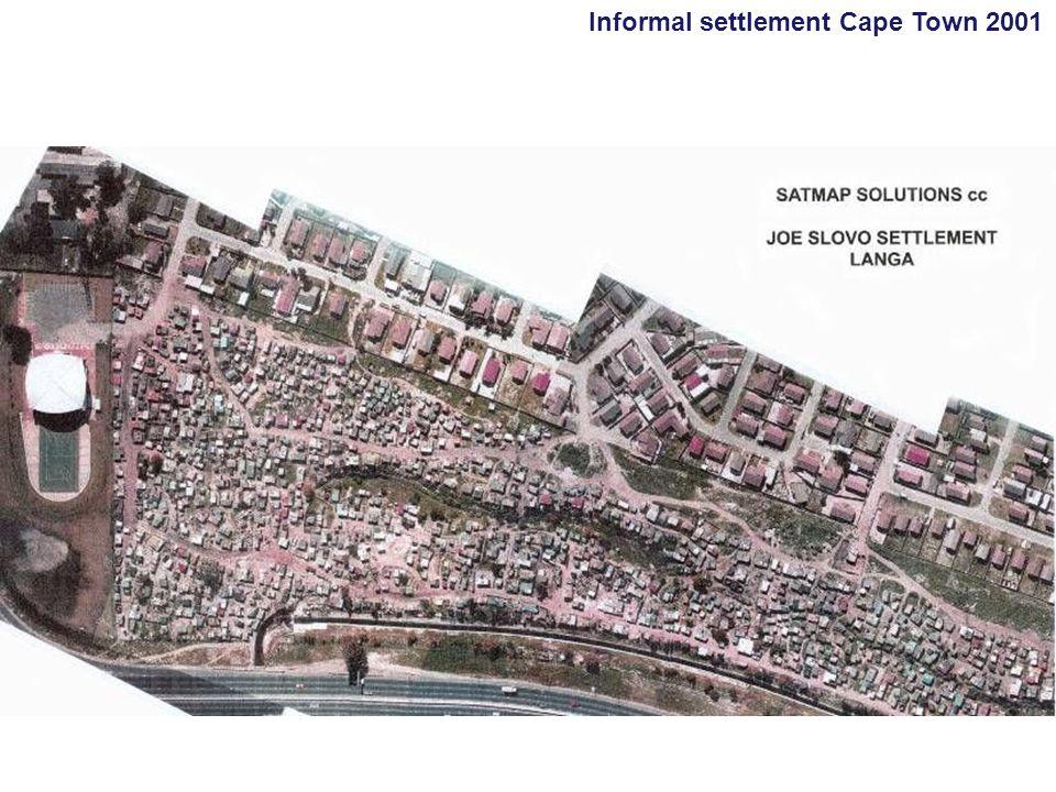 Informal settlement Cape Town 2001
