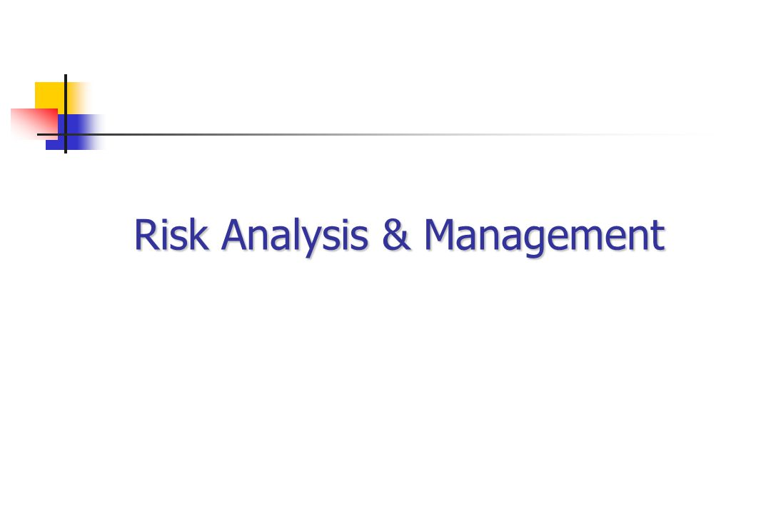 Risk Analysis & Management