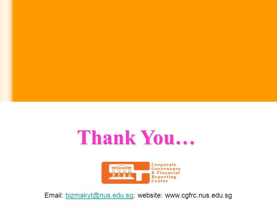 Thank You… Email: bizmakyt@nus.edu.sg; website: www.cgfrc.nus.edu.sgbizmakyt@nus.edu.sg