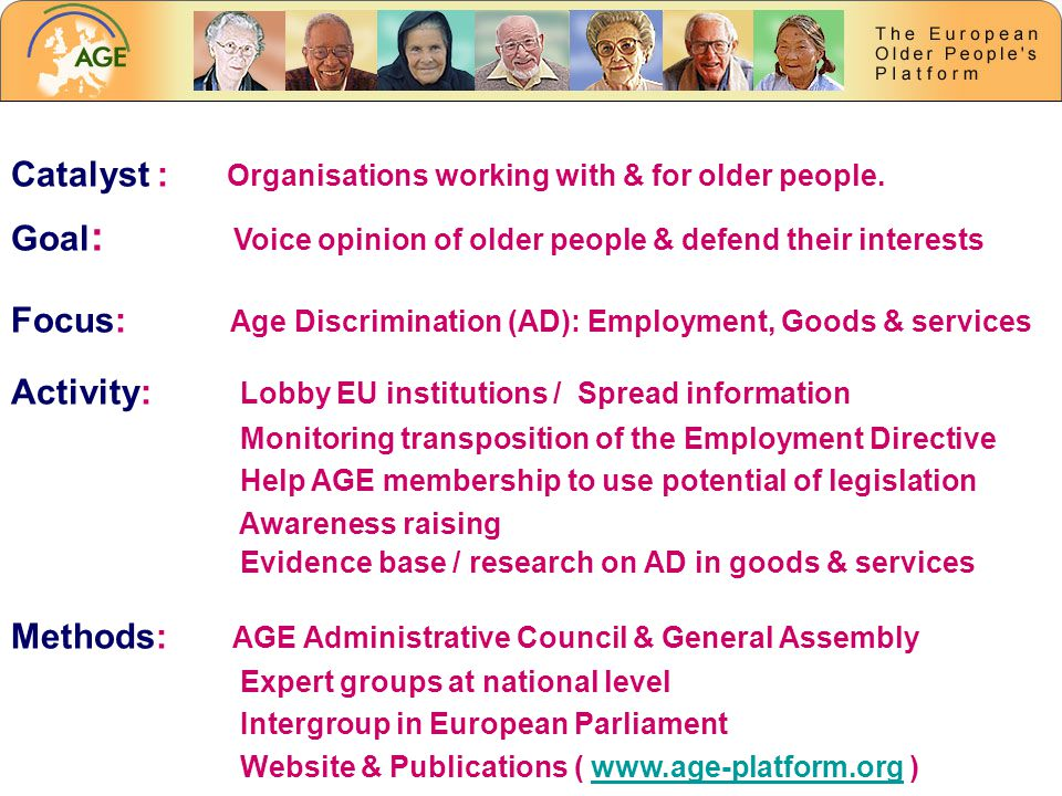 Catalyst : Organisations working with & for older people.