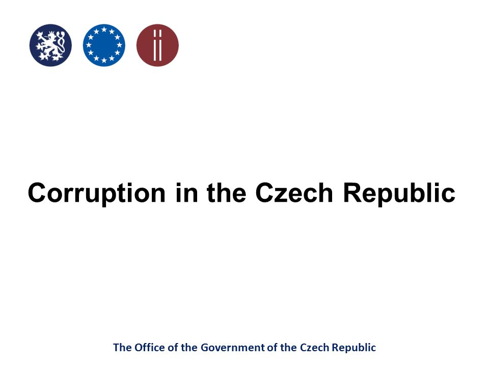 "The Office of the Government of the Czech Republic ""SMALL CIA - content which entities in terms of their number, market power, structure and organization are affected by the draft law evaluation of known cases of corruption and other violations of law in the past determination of the major corruption risks that may be related with solutions"
