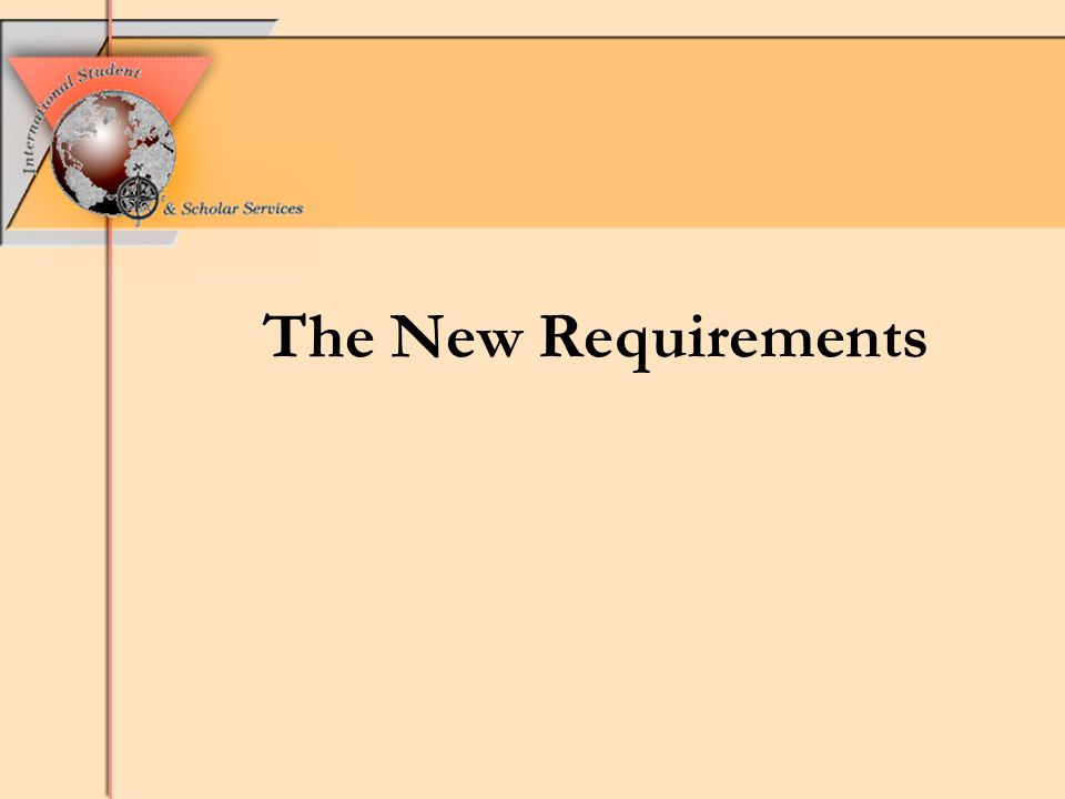 The New Requirements