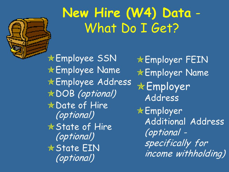 Income & Address NDNH Matches to FCR Data Occurs within 30 days of the participant getting a new job New hire data is Wage and unemployment information is sent quarterly Hot!