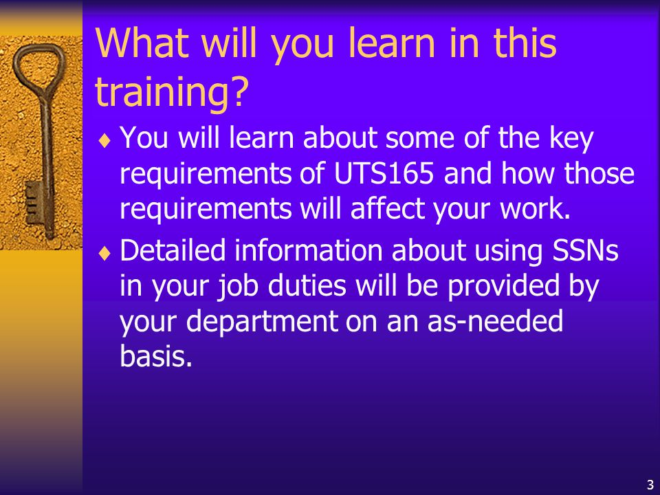 3 What will you learn in this training.