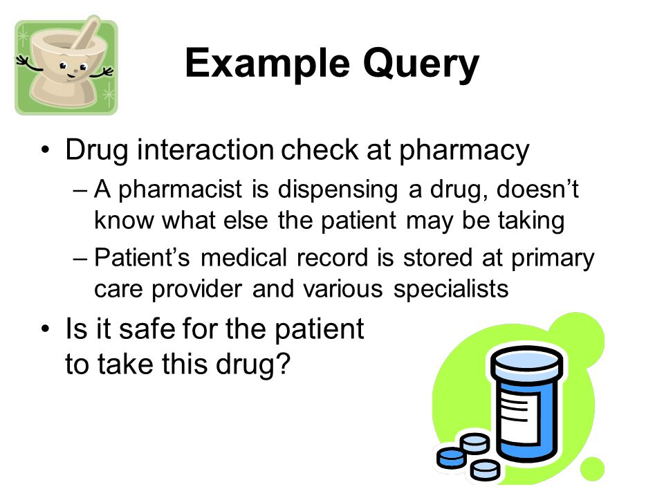 SELECT EXISTS ( SELECT * FROM query_table INNER JOIN drug_history ON query_table.nonce = drug_history.nonce WHERE conflicts.drug = drug_history.drug ); Split query: joining Query executed at the third-party MIX host: result exists 1 drug_history noncedrug 34A____ query_table drugnonce A____Ω(34) A____Ω(56) B____Ω(34) B____Ω(56)