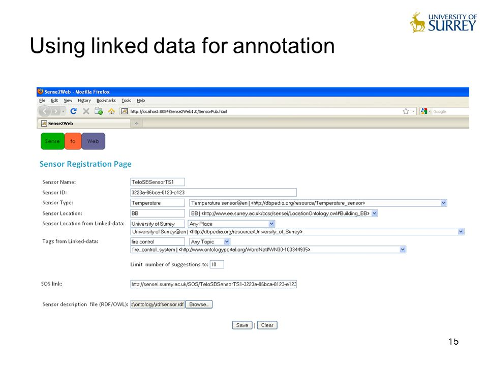 15 Using linked data for annotation