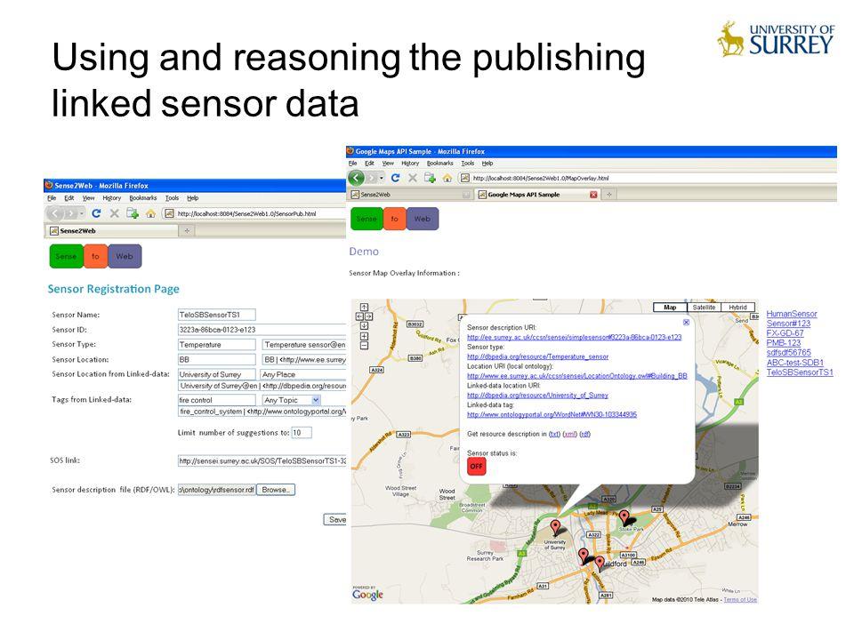 18 Using and reasoning the publishing linked sensor data