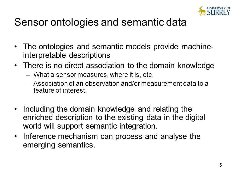 6 Semantic interoperability and semantic integration Making sensor-generated information usable as a new and key source of knowledge will require their integration into the (existing) information space of Communities  Semantic Integration