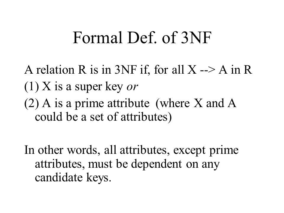 Formal Def.