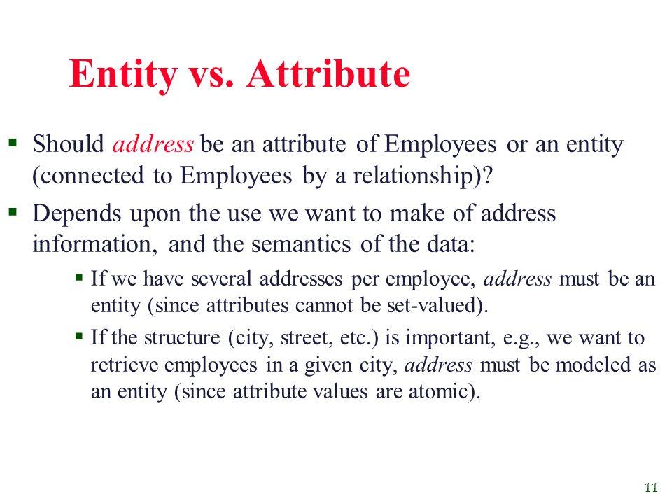 11 Entity vs.