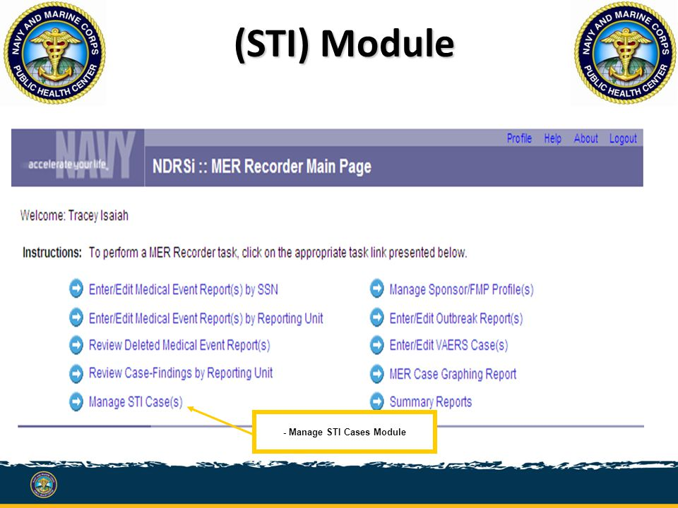 - Manage STI Cases Module (STI) Module
