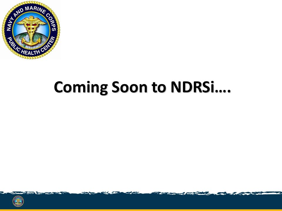 Coming Soon to NDRSi….