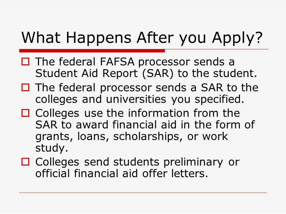 What Happens After you Apply.