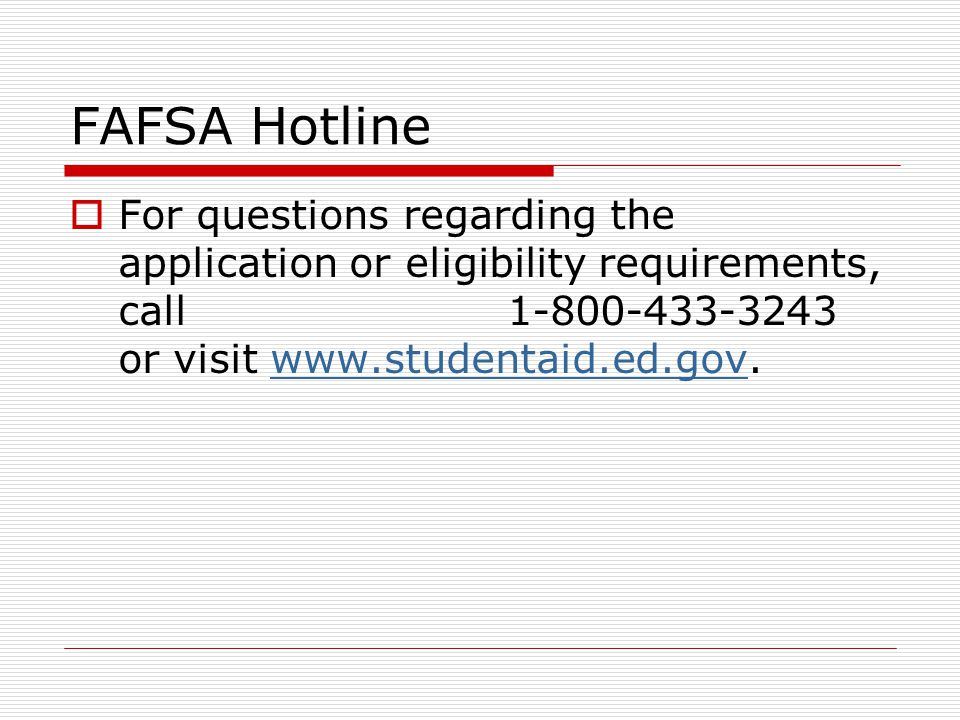 FAFSA Tips Section 2- Student Dependency Status  Dependent vs.