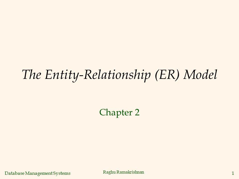 Database Management Systems 1 Raghu Ramakrishnan The Entity-Relationship (ER) Model Chapter 2