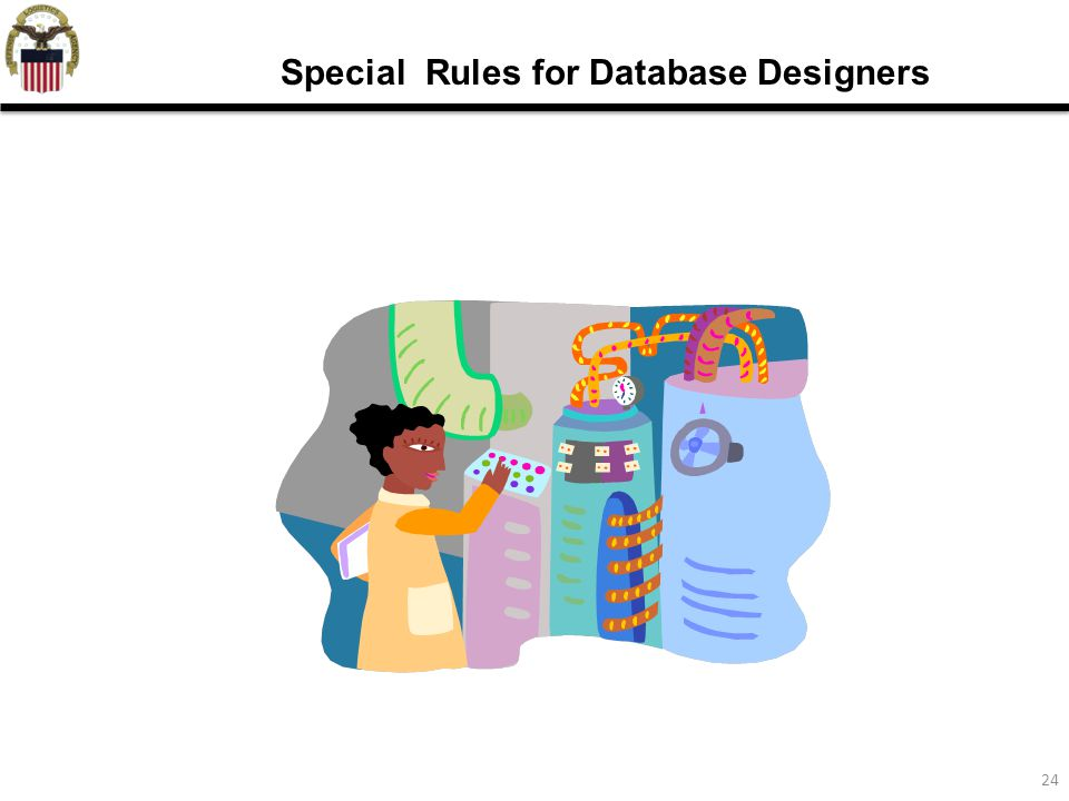 24 Special Rules for Database Designers