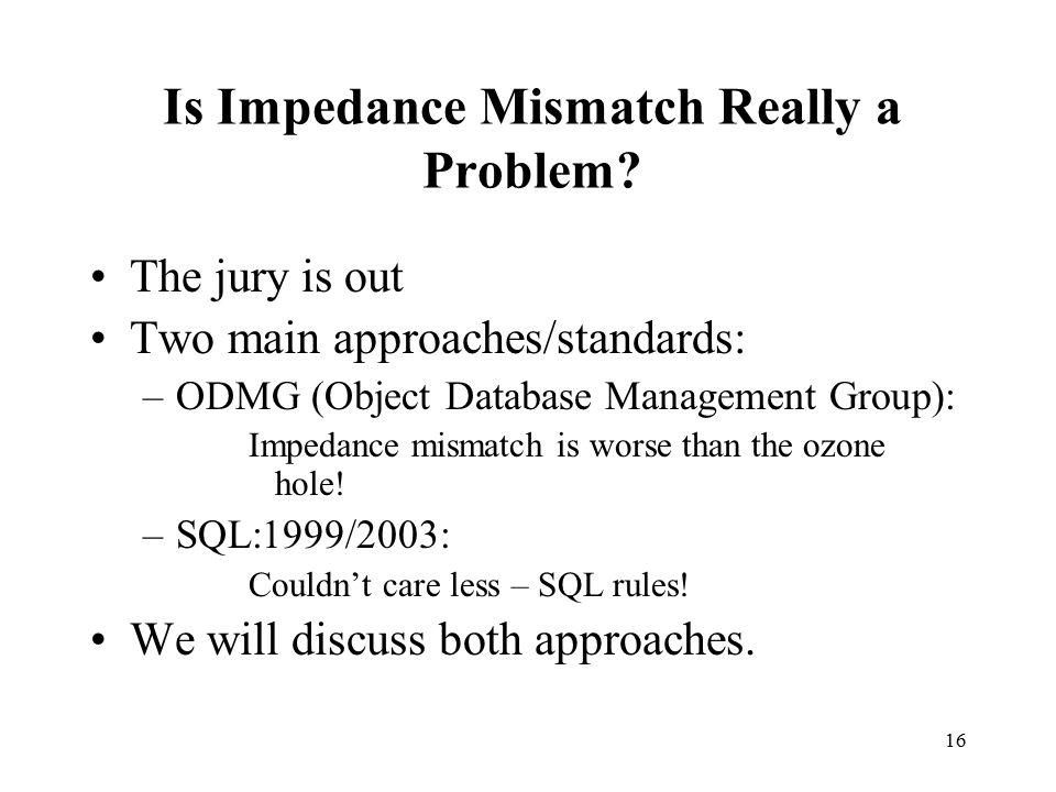 16 Is Impedance Mismatch Really a Problem.
