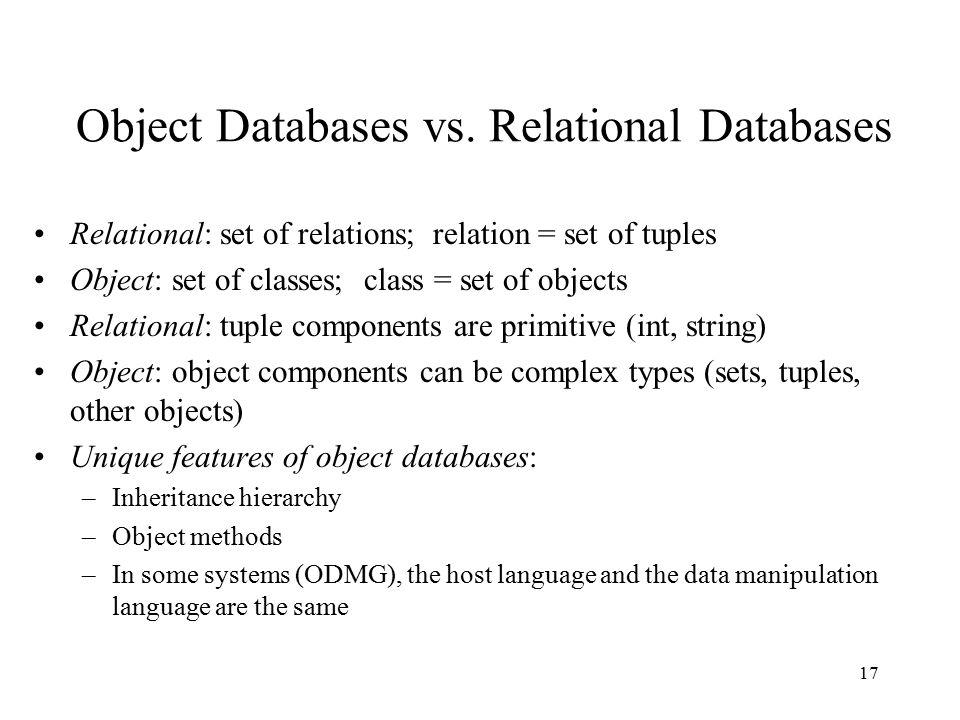 17 Object Databases vs.