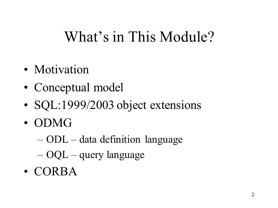 2 What's in This Module.