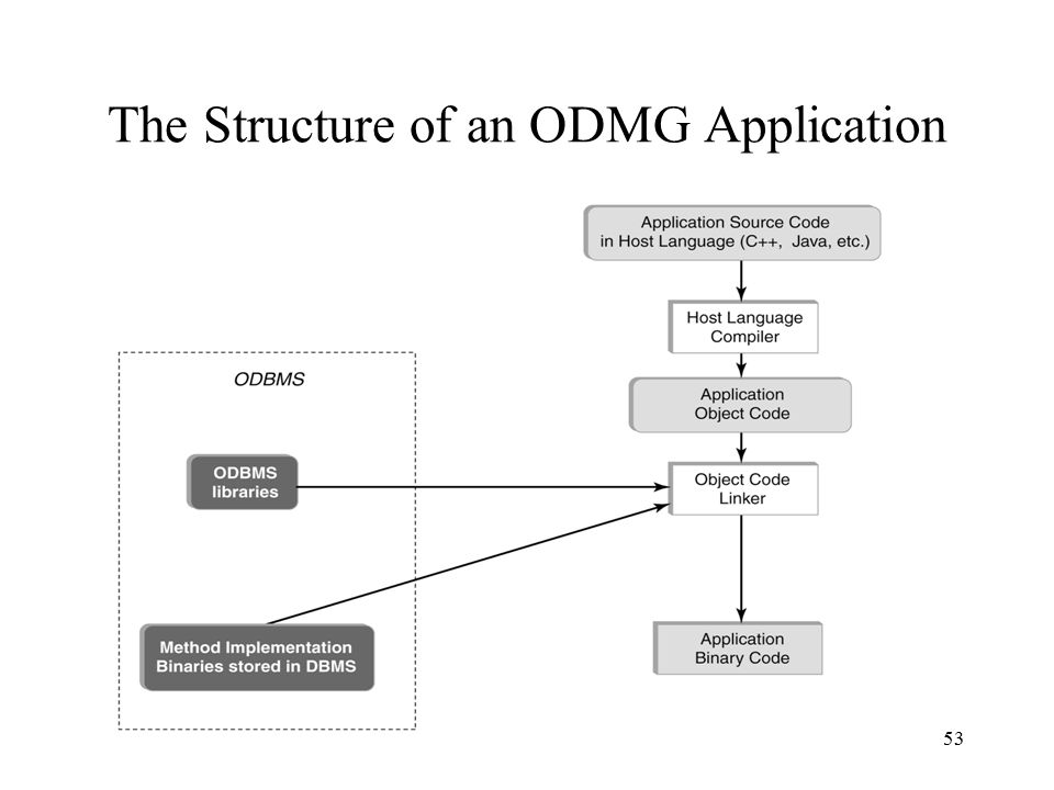 53 The Structure of an ODMG Application