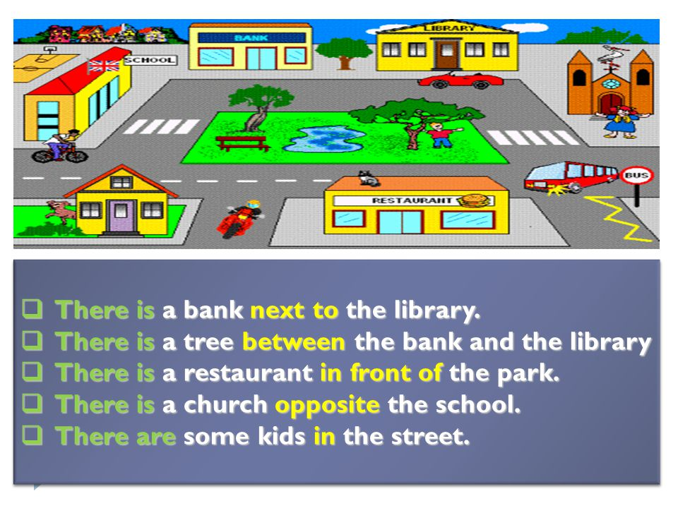  There is a bank next to the library.