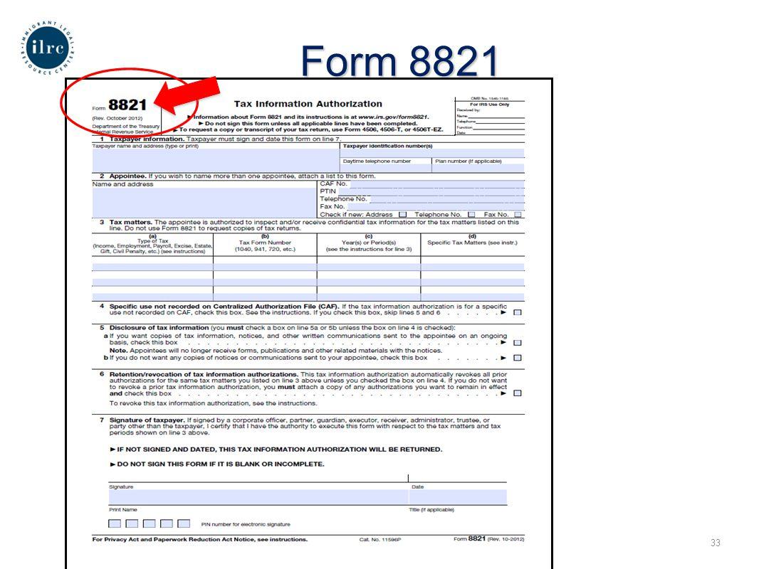 18 Form 8821 33