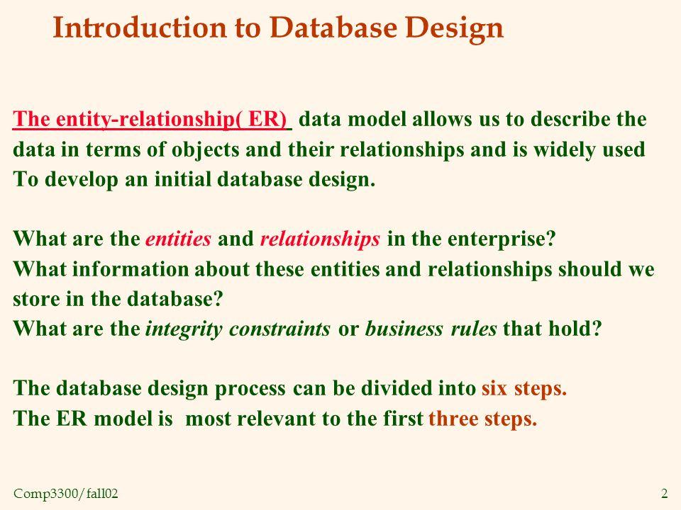 Comp3300/fall023 Design process 1.