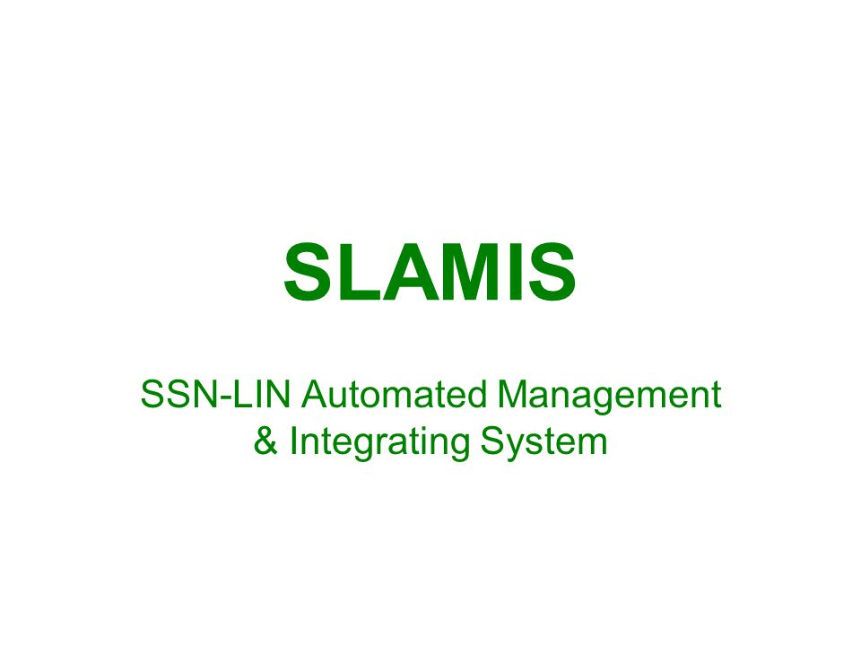 Requesting SLAMIS LIN/NSN Forward SLAMIS request sheet to USPFO Property Management Section P.O.C.