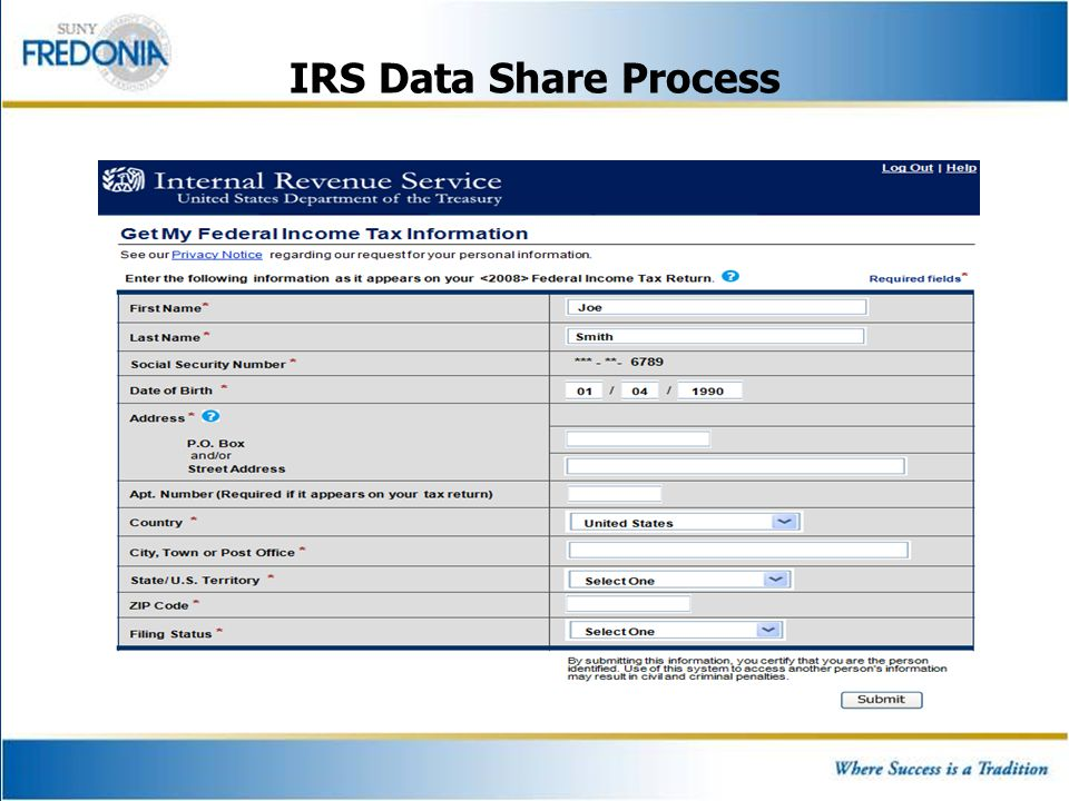 IRS Data Share Process