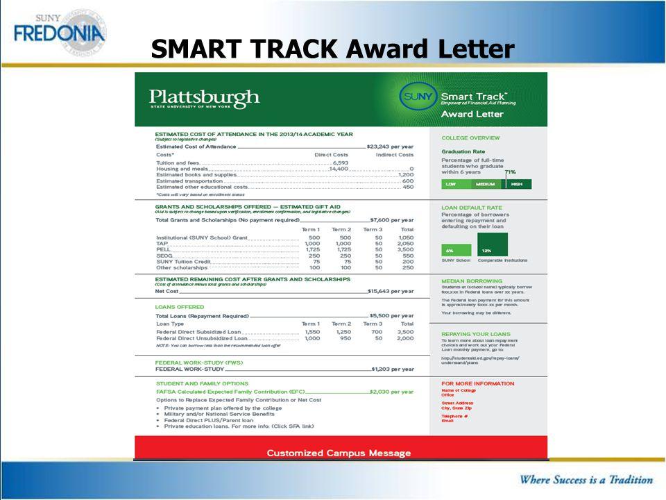 SMART TRACK Award Letter
