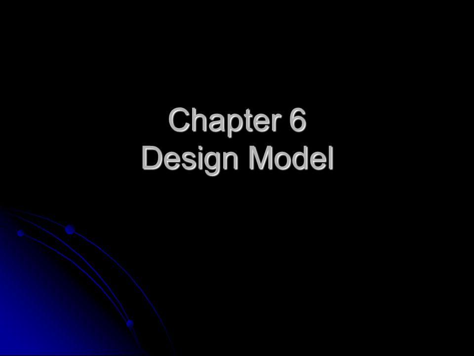 Chapter 6 Design Model