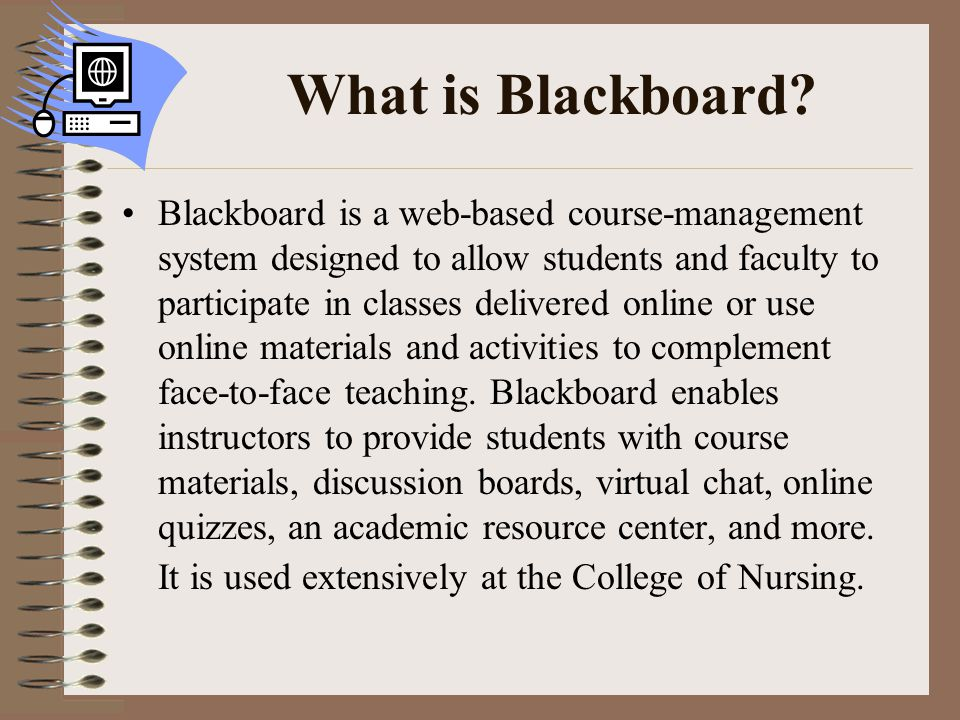What is Blackboard.