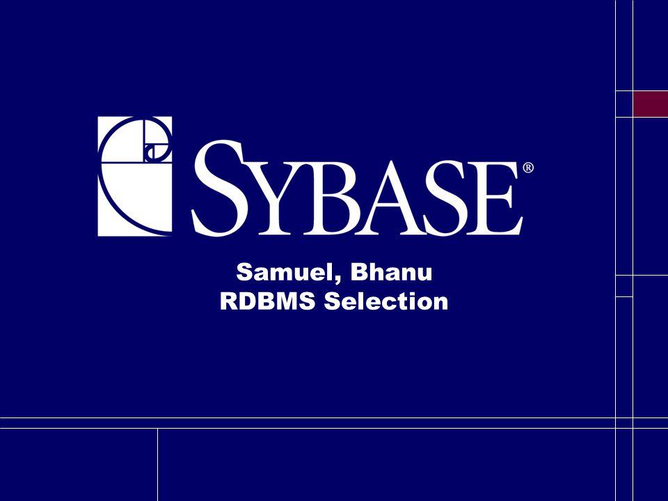 Samuel, Bhanu RDBMS Selection