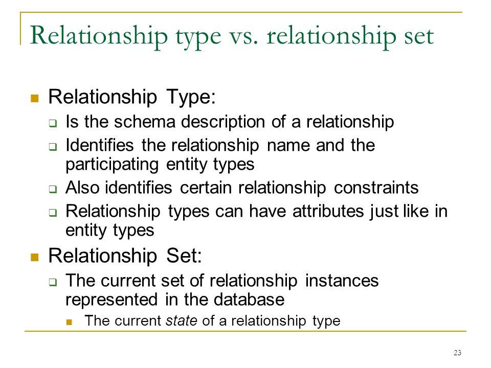 23 Relationship type vs.