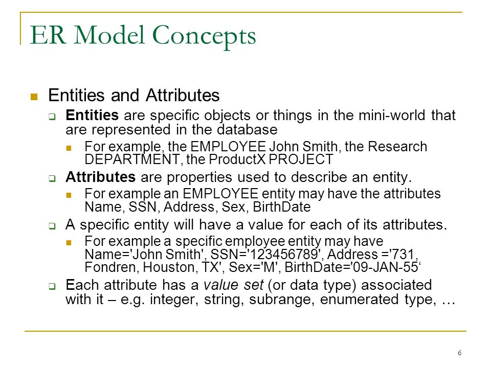 Design ER-Diagram in This Order Forget about tables  Focus on entities and their relationships Indentify all the entity types first Then identify attributes and relationships 47