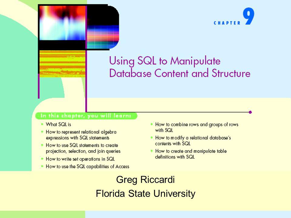 Greg Riccardi Florida State University